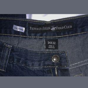 Beverly Hills Polo Club Denim Blue Jeans Sz 36/31